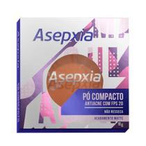 Pó Compacto Asepxia Antiacne com FPS20 Cor Marrom Matte 10g -