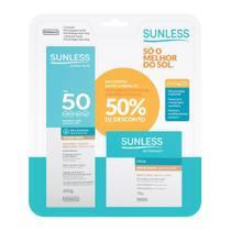 Pó Compacto Sunless Efeito Matte FPS 50 Bege Claro 10g e Ganhe 50% de Desconto no Protetor Solar Sunless com Base Cor Bege Claro FPS 50 Toque Seco 60g - Farmax