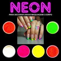 Po Neon Decoracao Unhas de Gel Po Neon Sombra Para Maquiagem Cod 02 - Gécika