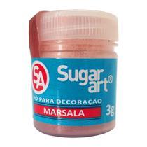 Pó para Decoração Marsala Comestível 3g - Sugar Art -
