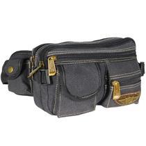 Pochete Masculina Reforçada Bolsa Cintura De Lona Multiuso - Kvn