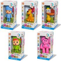 Pocoyo De Vinil + Elly Nina Loula Pato Kit 5 Bonecos Cardoso - Cardoso Toys