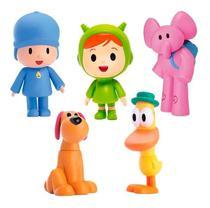 POCOYO/ PATO /LOLA /ELLY /NINA Bonecos De Vinil Pocoyo - Cardoso Toys