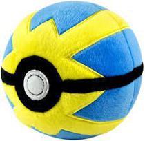 Pokébola Pokémon: Quick Ball Pelúcia 11cm - Pokéball Tomy -