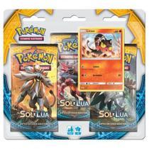 Pokemon Blister Triplo Sol e Lua - Copag