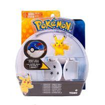 Pokemon - Boneco + Pokebola - Figura Pikachu - Tomy Original -
