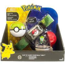Pokémon - cinto porta pokébolas - bulbasaur - sunny - Sunny Brinquedos