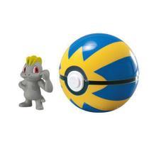 Pokemon - Clip Carry - Machop + Pokebola Quick Ball - Tomy -