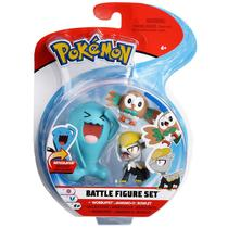 Pokemon Conjunto Wobbuffet, Jangmoo e Rowlet - DTC -