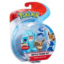 Pokemon Conjunto Wobbuffet, Popplio E Eevee - Dtc -