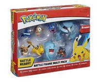 Pokemon Figura Batalha Conjunto com 8 Bonecos - DTC -