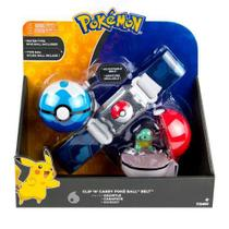 Pokémon kit  Cinto Clip + Pokebola + Ultraball Com Squirtle Tomy - Sunny