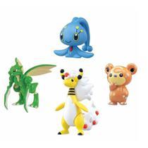 Pokémon - Kit Mega Ampharos, Manaphy, Teddiursa E Scyther - Tomy