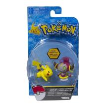 Pokémon Mini Figura Pikachu VS Hoopa - Tomy -