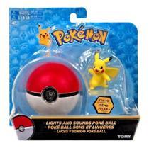 Pokémon Pikachu + Pokebola com Luz e Som - Tomy -