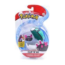 Pokemon Pokebola Clip N Go com Clips Pyukumuku - DTC -