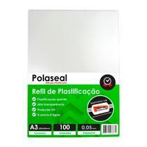 Polaseal Plástico para Plastificação A3 303x426x0,05mm 100un - Marpax