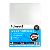 Polaseal Plástico para Plastificação A4 220x307x0,07mm 100un - Marpax