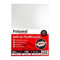 Polaseal Plástico para Plastificação A4 220x307x0,10mm 100un - Marpax
