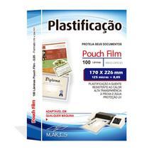 Polaseal Plástico para Plastificação Meio Ofício 170x226x0,05MM 100UN - Mares