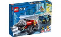 Polícia de Elite: Perseguição de Carro Perfurador Lego City -