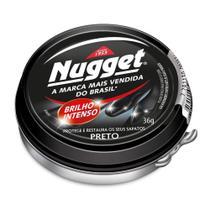 Polidor De Sapato Pasta Preto Cera Nugget Pote Graxa 36G -