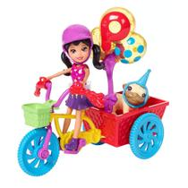 Polly Pocket - Bicicleta Aventura Pet - Mattel