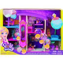 Polly Pocket Mega Casa de Supresas 60 cm Com elevador e boneca - Mattel -