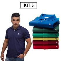 Polo Original Kit Com 5 Camisa 11 Cores Oferta Imperdível - Estilo Rei