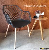 Poltrona Alberta preta Byartdesign -
