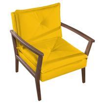 Poltrona Ariela Tecido Liso - Amarelo - M'art decor
