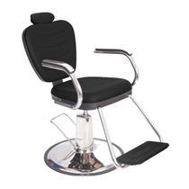 Poltrona Cadeira Barbeiro Preta Reclinável Hidráulica - Dompel