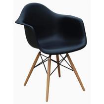 Poltrona Cadeira Charles Eames Dkr Eiffel Ba. Wood Com Braço - Art