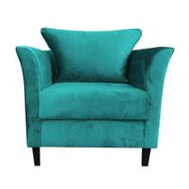 Poltrona Decor Magazine Ibis Suede Azul Tiffany -