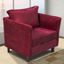 Poltrona Decorativa Komfort Hellen Vermelho - Hellen estofados