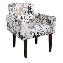 Poltrona Decorativa Lais Tecido Floral - Am decor