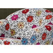 Poltrona Decorativa Nina Chenile Floral X - 264 - Domi -