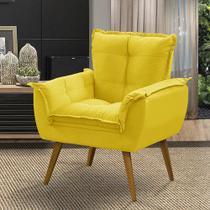 Poltrona Decorativa Opala Amarelo - Adonai Estofados