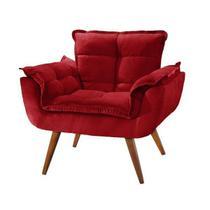 Poltrona decorativa opalla -  vermelha - Bymobille
