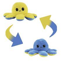 Polvo e Bichinho de Pelúcia Colorido Reversível - Feliz e Triste - Bbr Toys