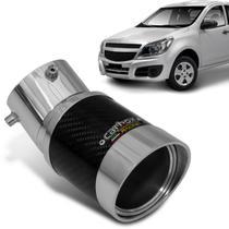 Ponteira de Escapamento Carbox Racing Montana 12 a 14 Central Elite Angular Redonda Carbono Alumínio -