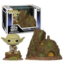 Pop Dagobah Yoda With Hut 11 Star Wars - Funko -