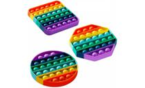 Pop It Fidget Toy, Empurre Pop Bubble Fidget Sensorial Toy, divertido e anti stress. - pop-it