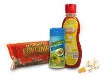 Popcorn Premium 200g milho + Óleo Sabor Manteiga + Tempero Popcorn Queijo - Www.Flavoredpopcorn.Com.Br