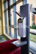 Porta Álcool em Gel e Sabonete Liquido PREMIU - Sinergia Brazil