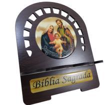 Porta Bíblia P Tabaco Sagrada Família - Artesanato Aparecida