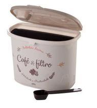 Porta café e filtro decorado cinza - plasutil -