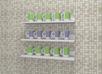 Porta canecas para decoração com kit de instalação fred planejados -