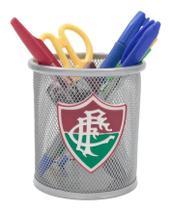 Porta Canetas Fluminense Produto oficial licenciado cinza -
