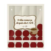 Porta Cápsulas de Parede Modelo Universal Café o Dia - Gton
